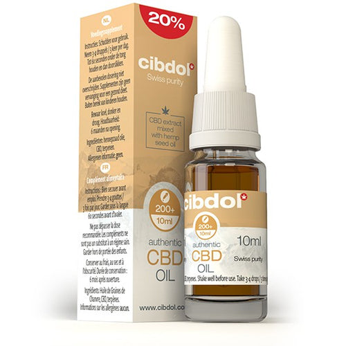 CIBDOL CBD Hemp Seed Oil 20% 10ml - The CBD Selection