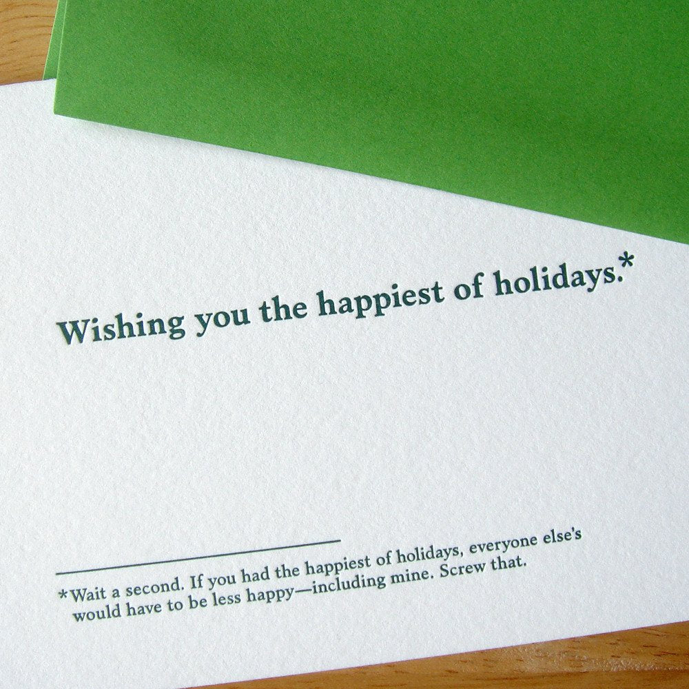 Wishing You the Happiest of Holidays Greeting Card