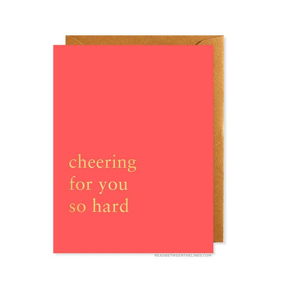 Cheering For You Greeting Card