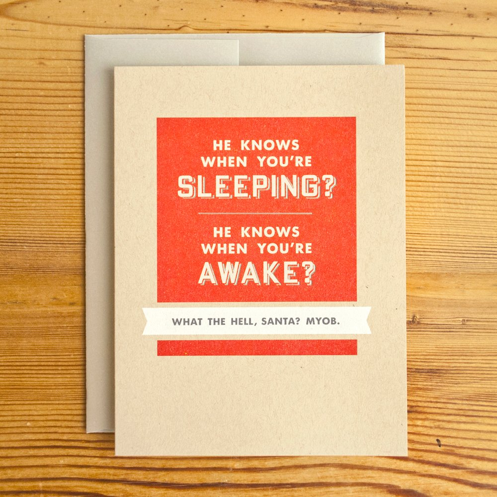 He Knows When You're Sleeping Greeting Card