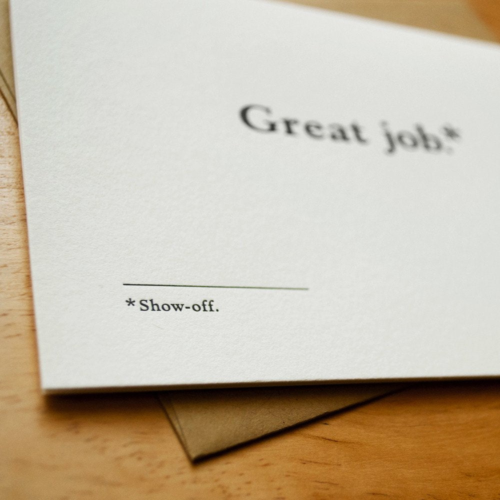 Show Off Congratulations Card