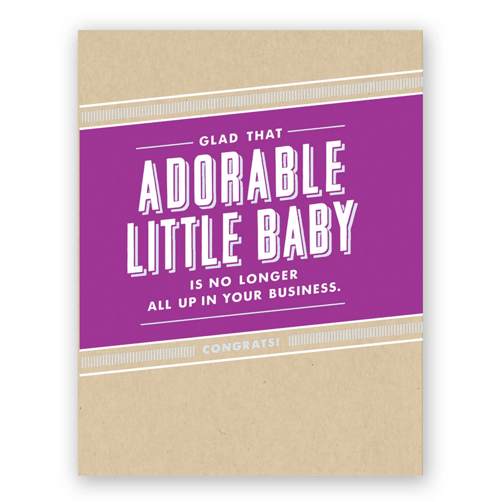 Adorable Little Baby Greeting Card