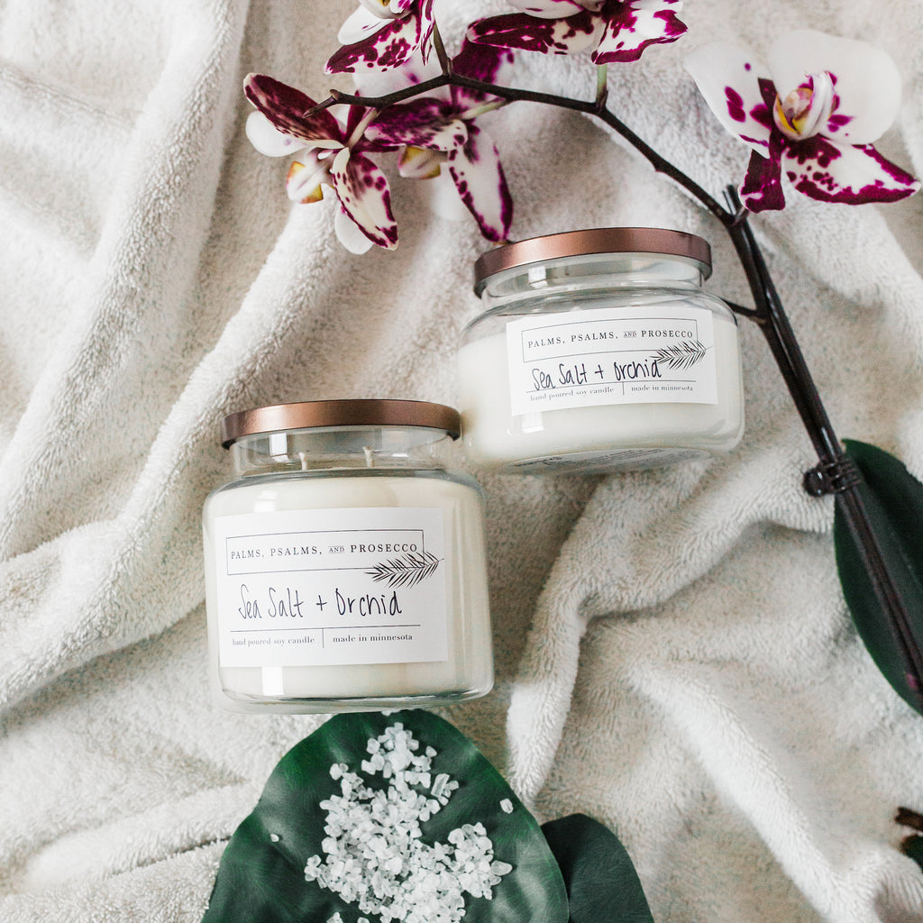 Sea Salt + Orchid Soy Candle