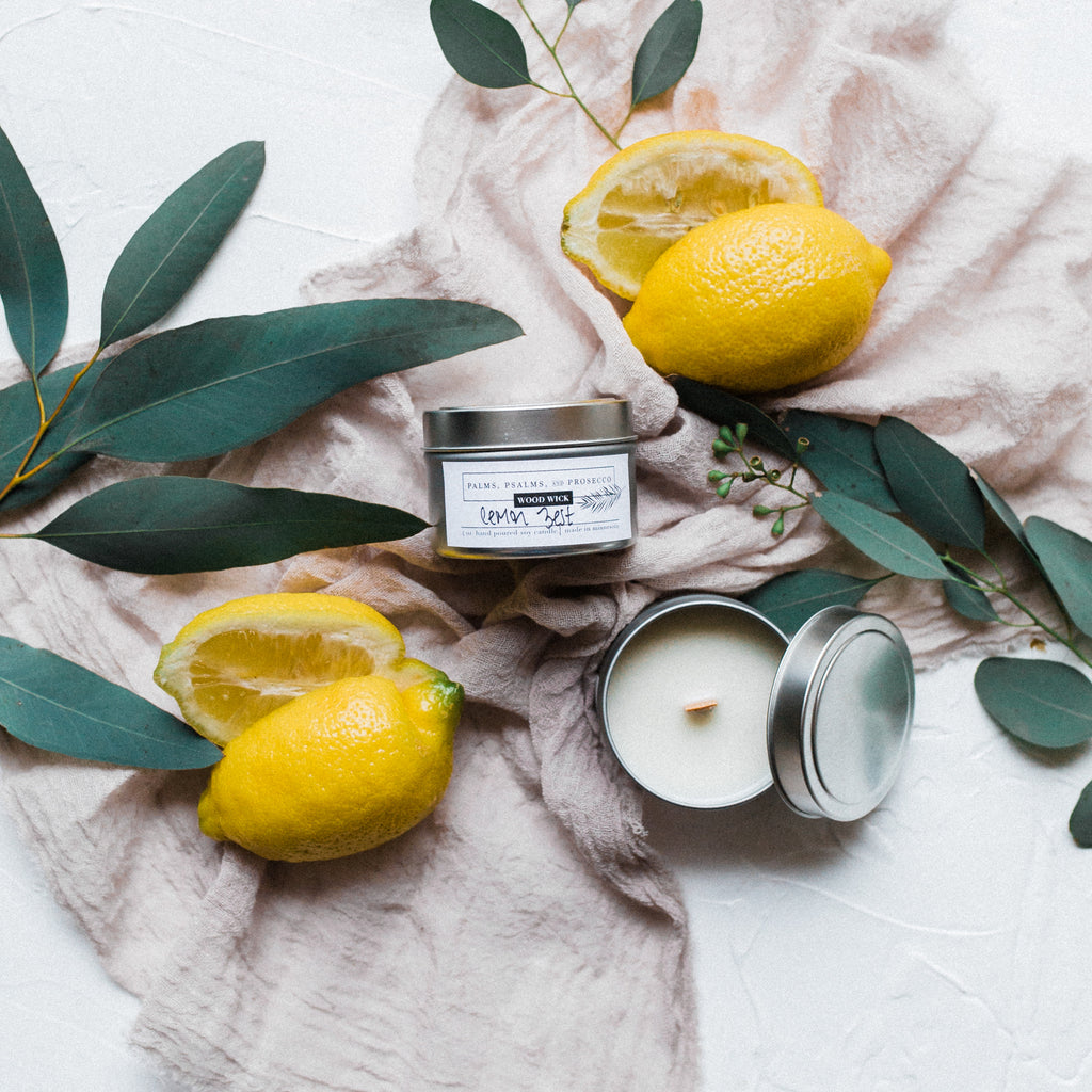 Lemon Zest Soy Wood Wick Candle
