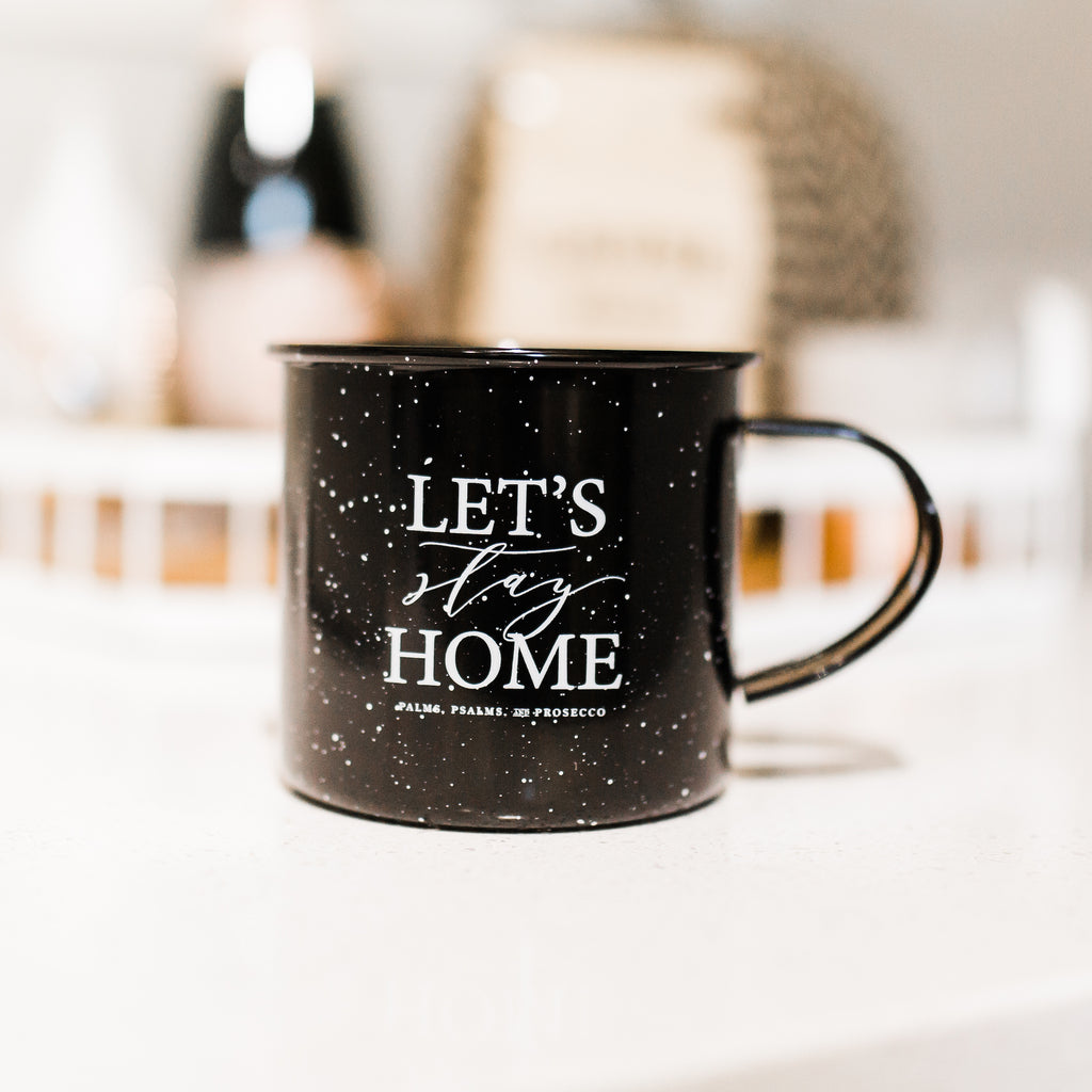 Let's Stay Home Camper Mug