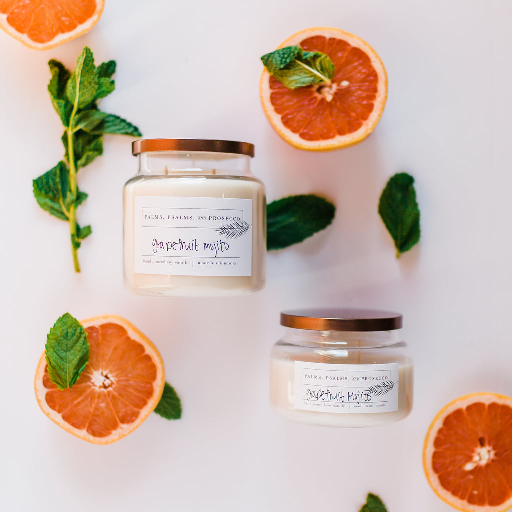 Grapefruit Mojito Soy Candle