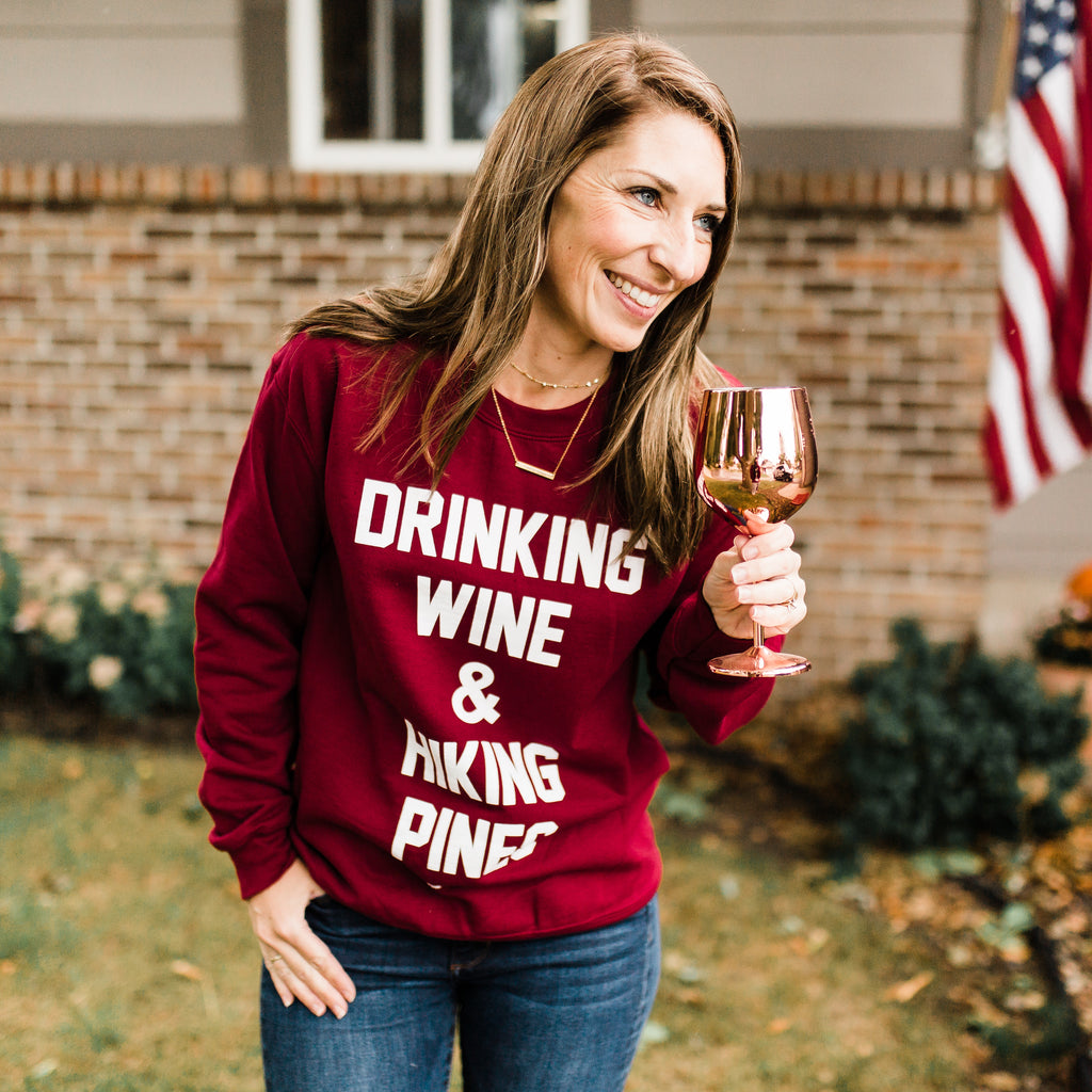 Drinking Wine Crewneck