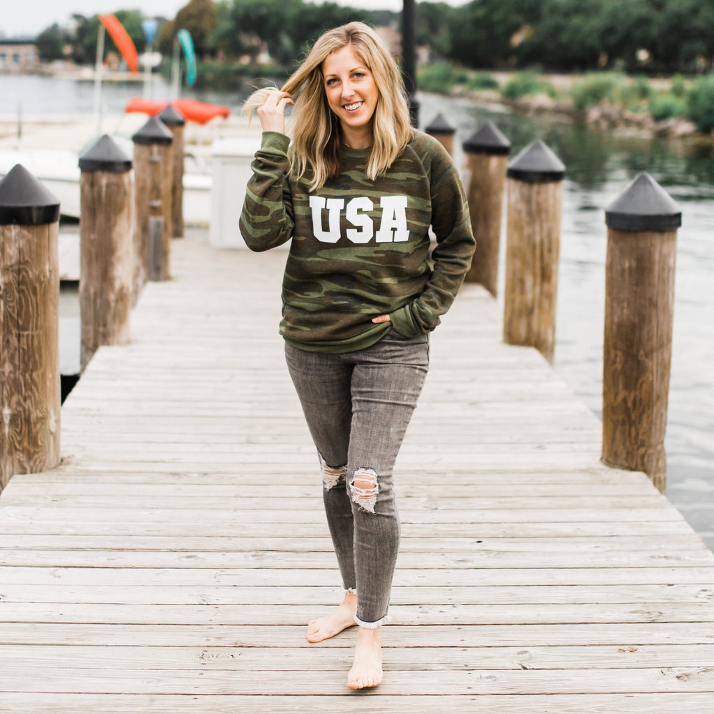 Camo USA Sweatshirt