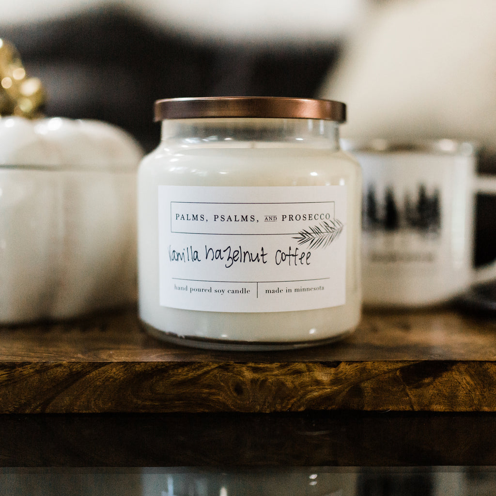 Hazelnut Vanilla Coffee Soy Candle