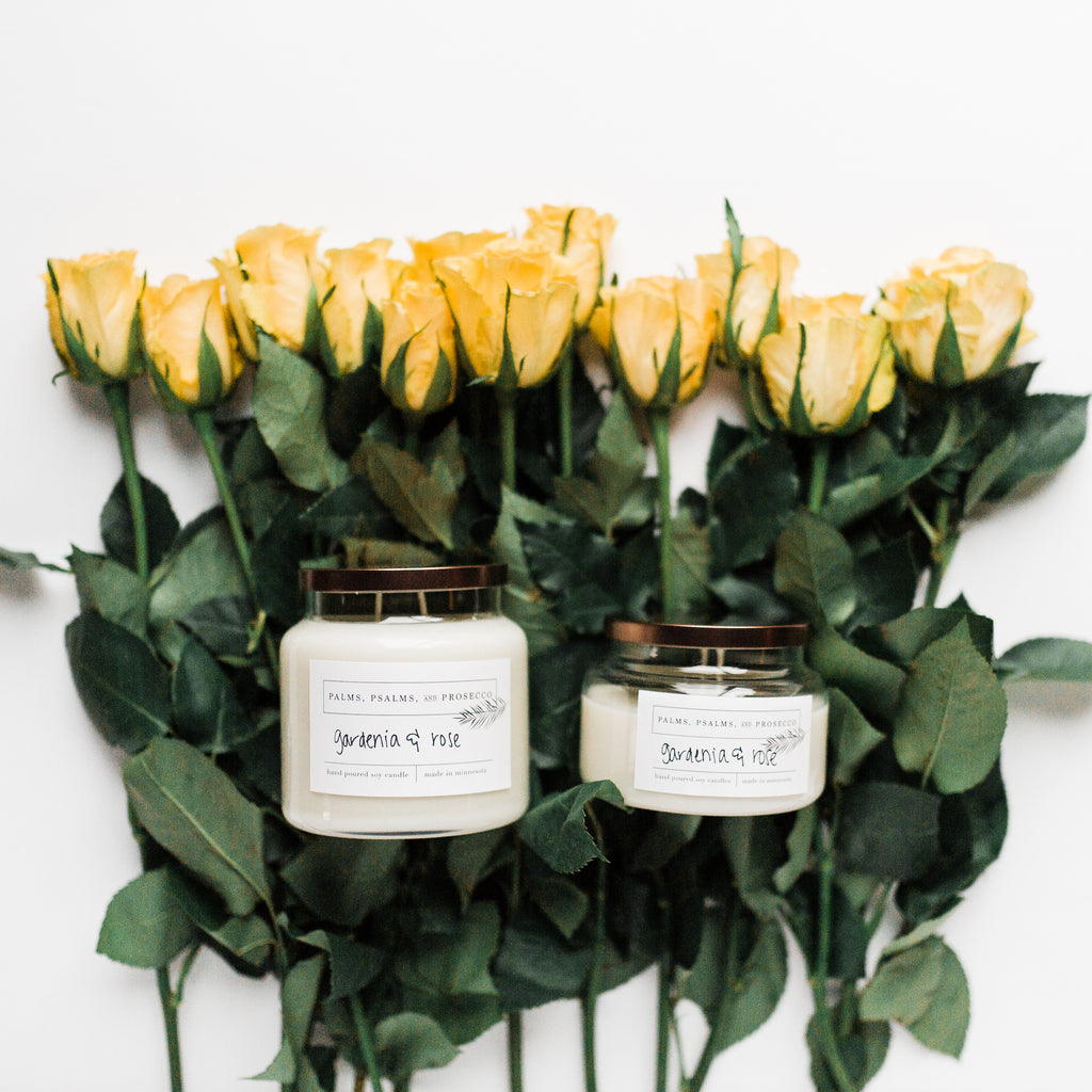 Gardenia & Rose Soy Candle