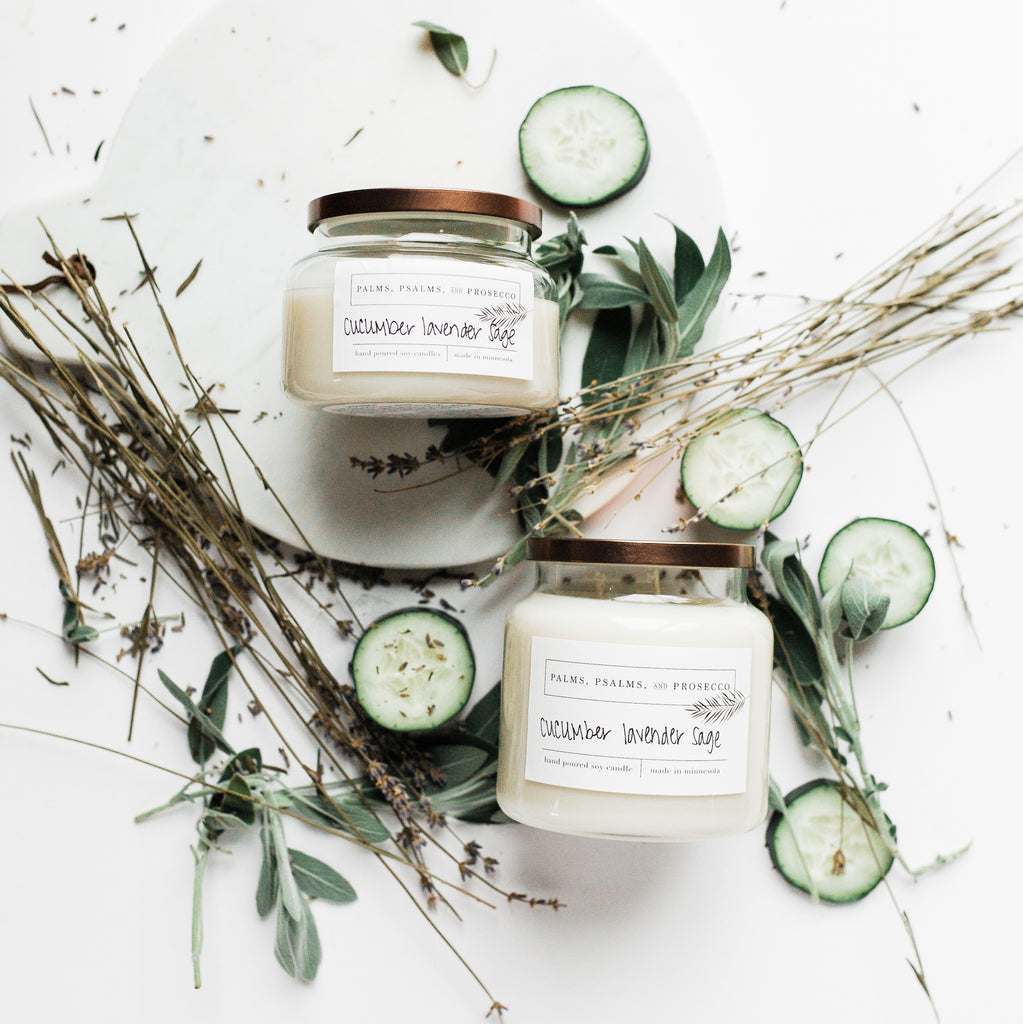 Cucumber Lavender Sage Soy Candle