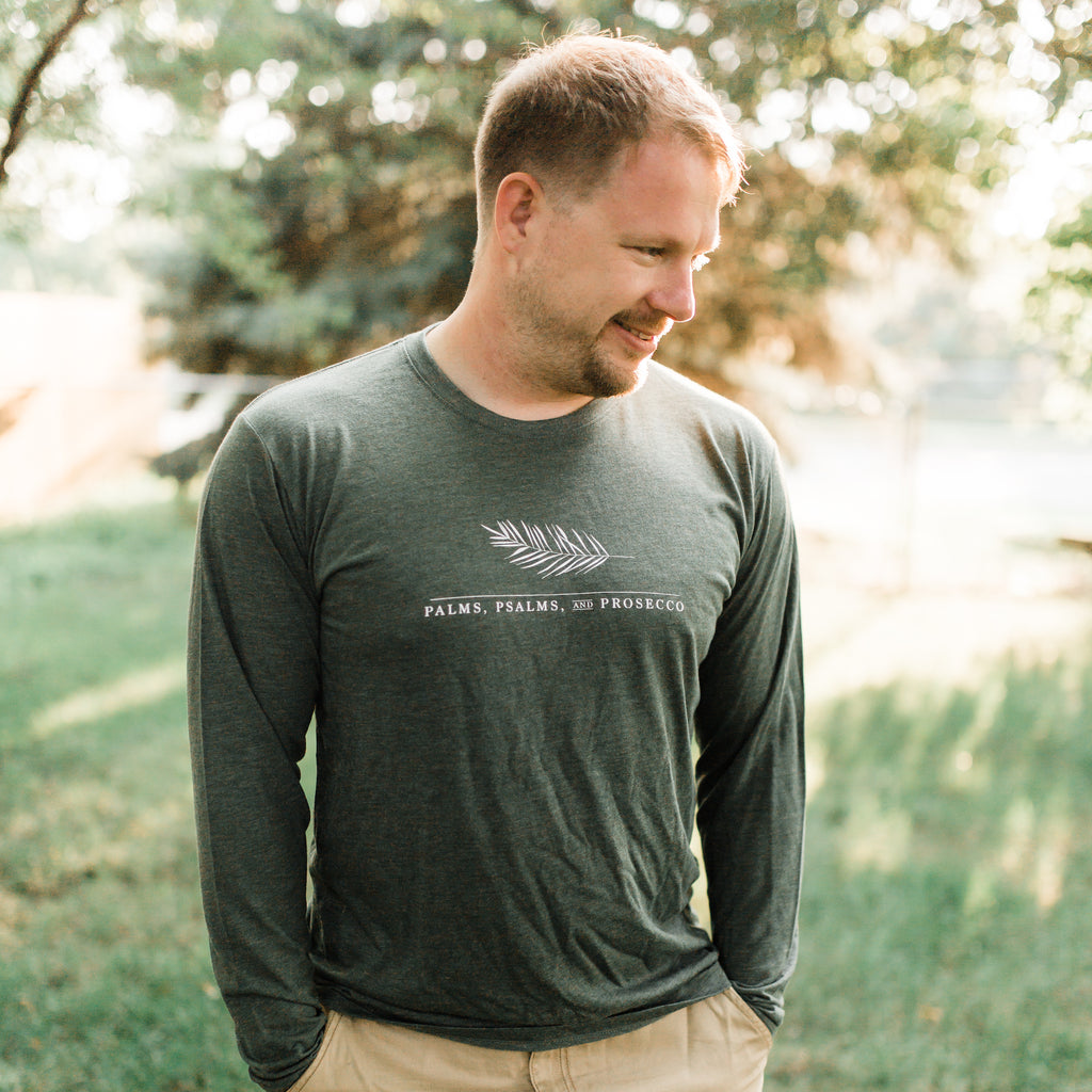Palms, Psalms, & Prosecco Long Sleeve Shirt - Green