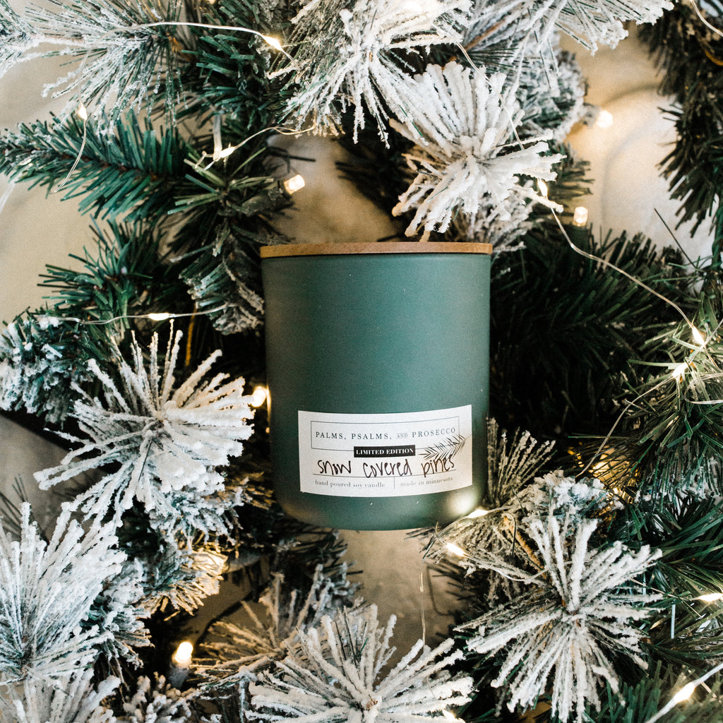 Snow Covered Pines Limited Edition Soy Wood Wick Candle