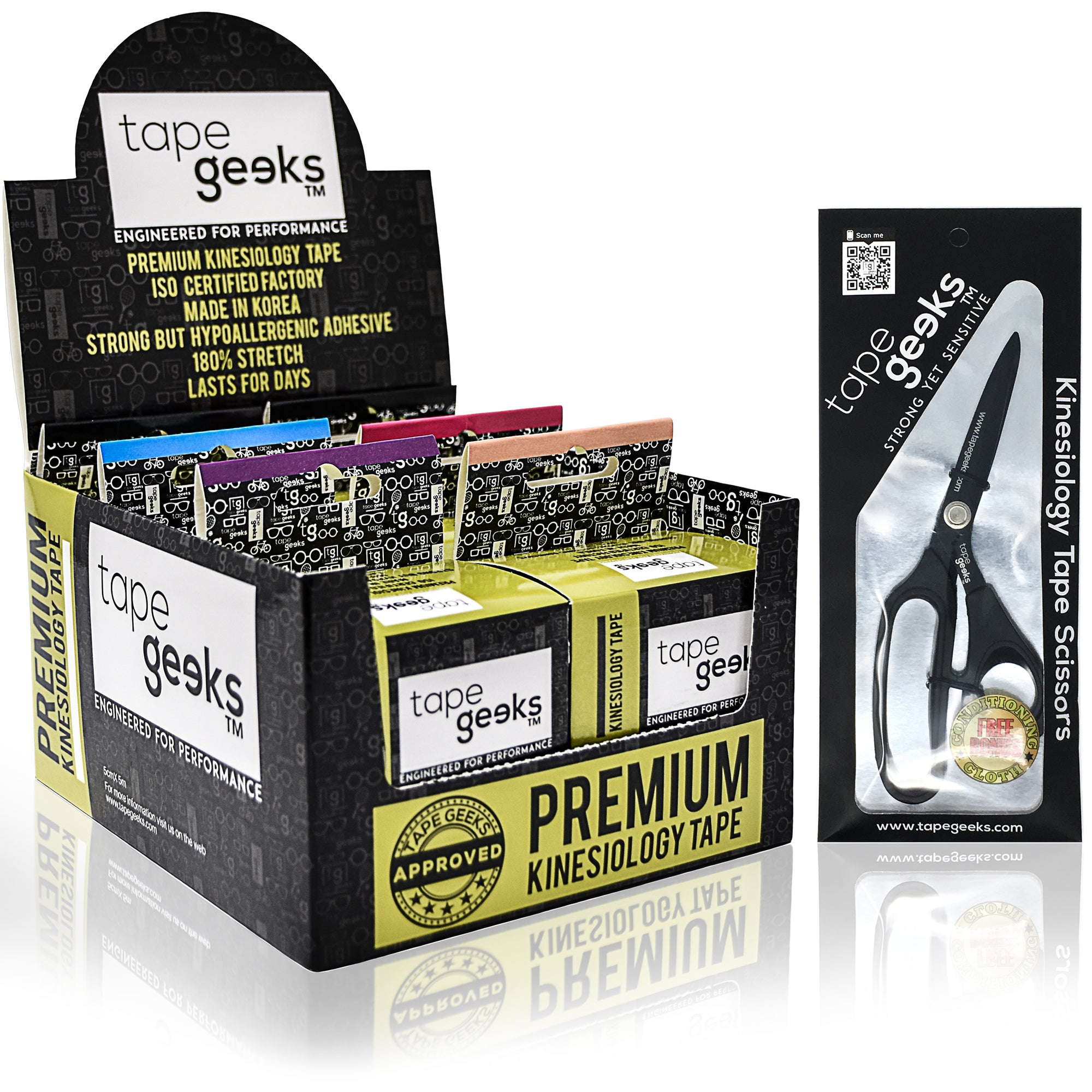 TapeGeeks 6-pack Special plus Scissors Kit