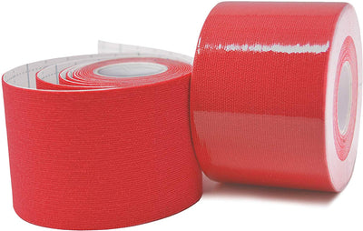 "TapeGeeks 5 cm (2"") Red Premium Kinesiology Tape"