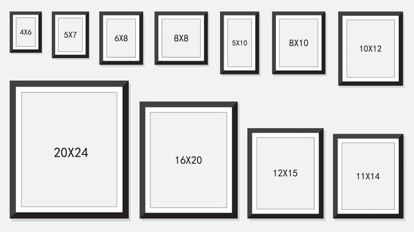 Prints frame size guides