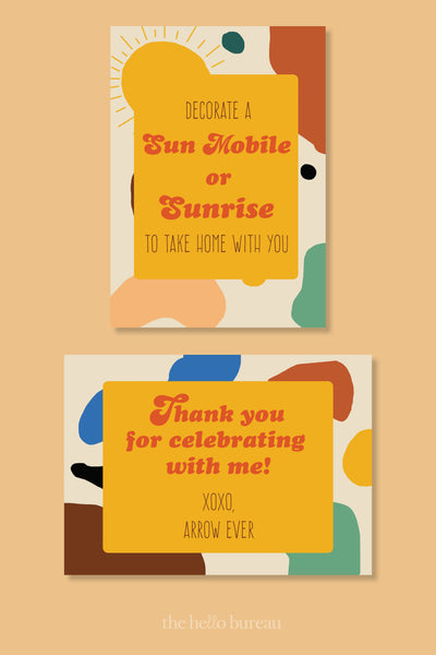 Here Comes The Sun Party Stationery | The Hello Bureau