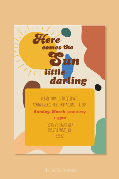 Here Comes The Sun Invitation | The Hello Bureau