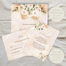 Load image into Gallery viewer, Editable Boho Wedding Invitation Template | Mykonos | The Hello Bureau