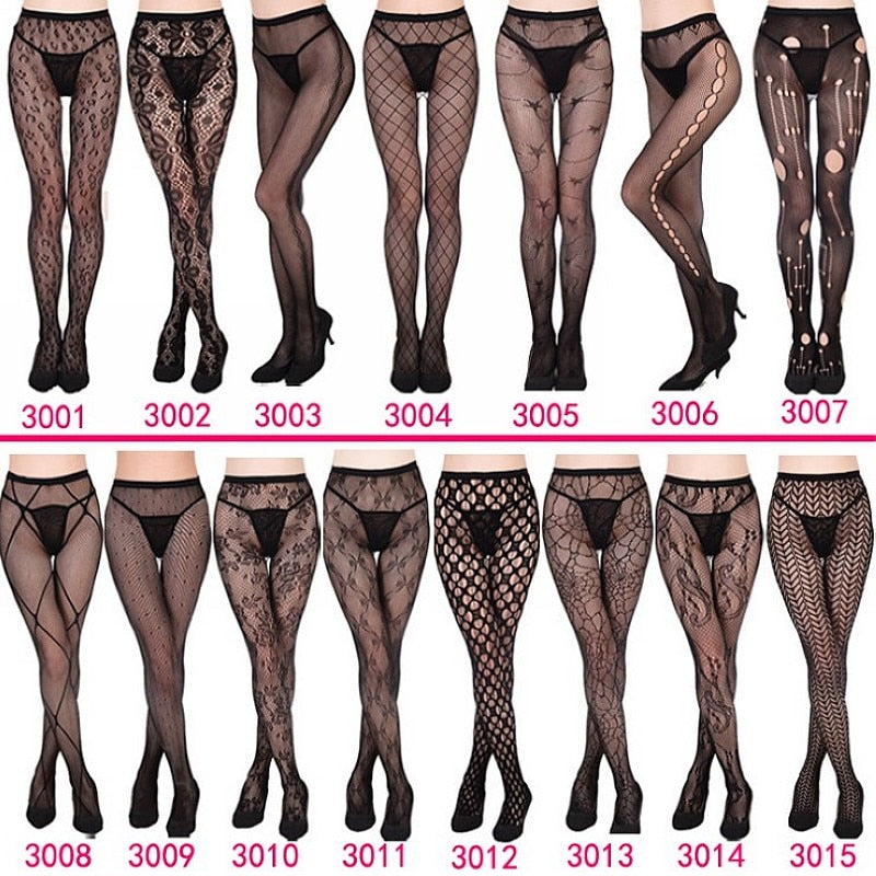 TIGHTS | Womens sexy fishnet tights Jacquard weave