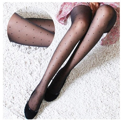 STOCKINGS | Polka Dot Silk Stockings