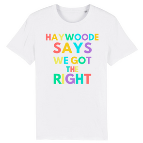 Haywoode Says We Got The Right T-Shirt - WonderStuff