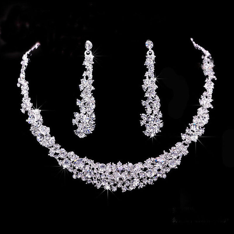 Crystal Bridal Jewelry Sets Hotsale Necklace+earrings Jewelry