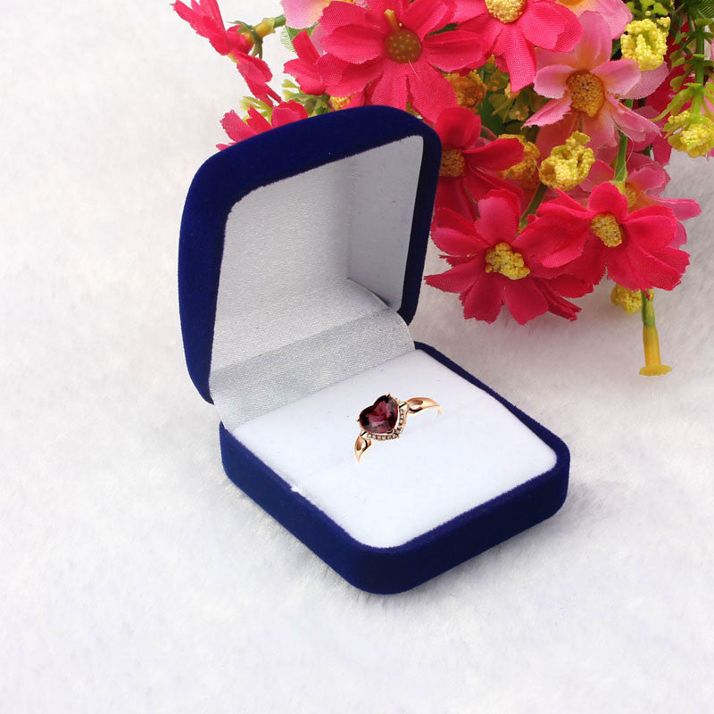 Fashion Storage Box Jewelry Ring Necklace Earrings Jewelry Flock Velvet