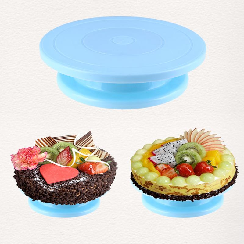 Plastic Cake Plate Turntable Rotating Anti-skid Round Cake