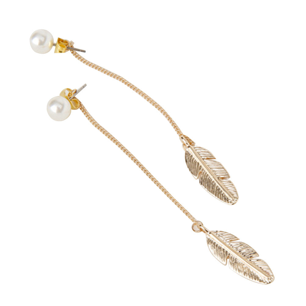 Stylish Leaf Earrings Drop jewelry Long Eardrop Jewelry Accessorices
