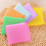 Home and Kitchen 4pcs Soft Sponge Scouring Pads Dish Bowl Kitchen Cleaning Scrub Scrubber Pad