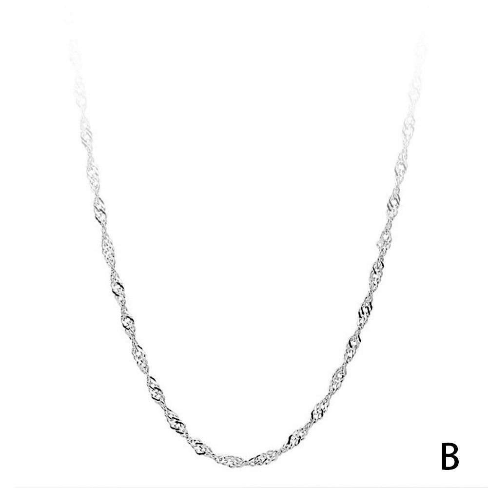 New Fashion  Silver Jewelry Necklace Silver Chain Jewelry  Gift