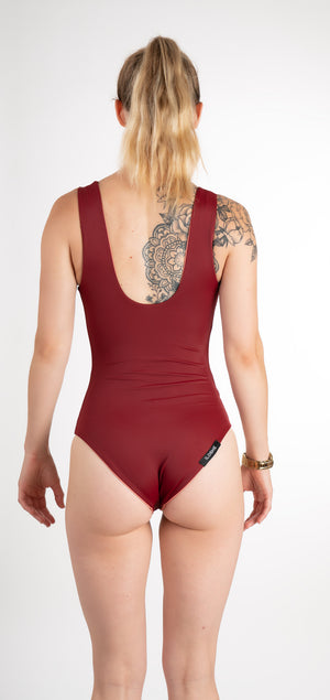 eco friendly reversible one piece maroon