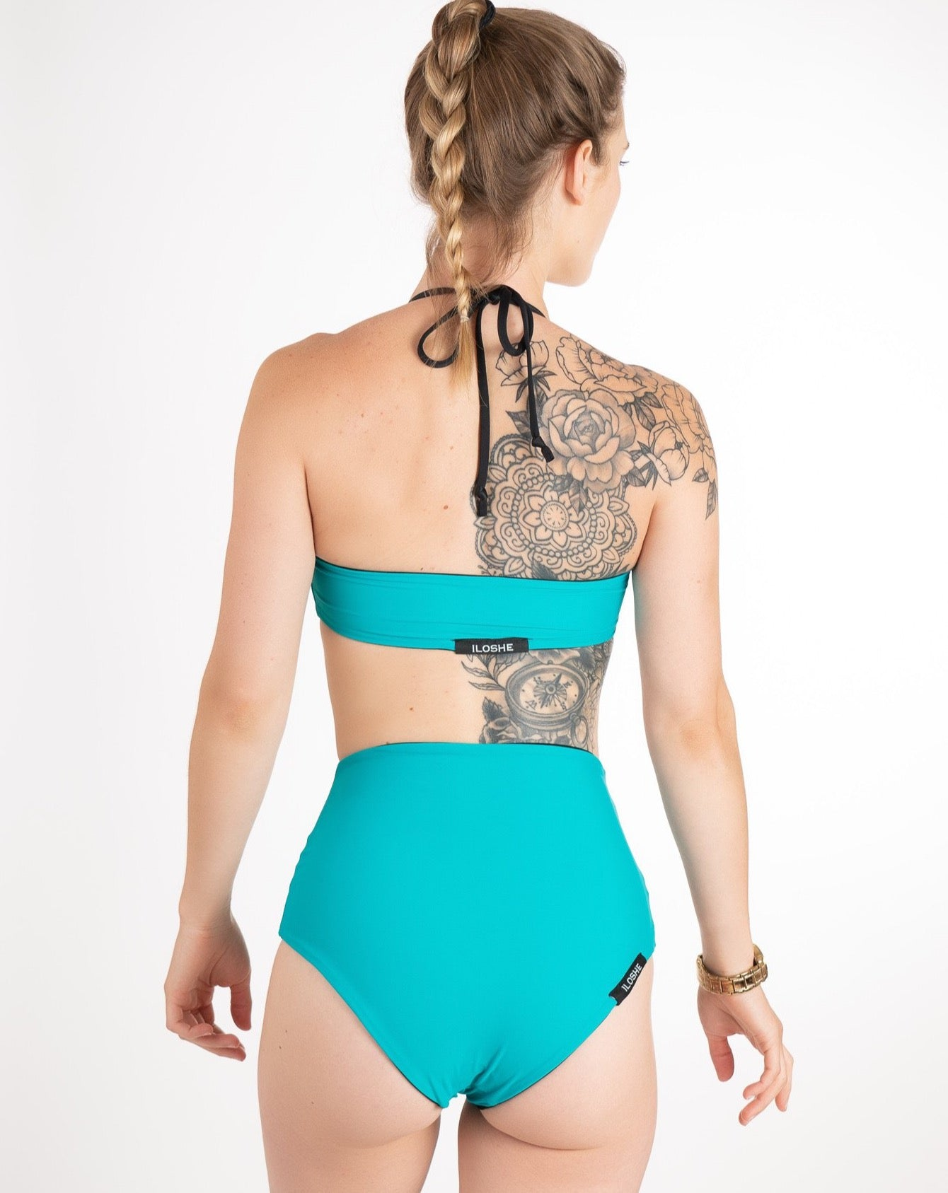 high waist reversible  swimming suit bottom