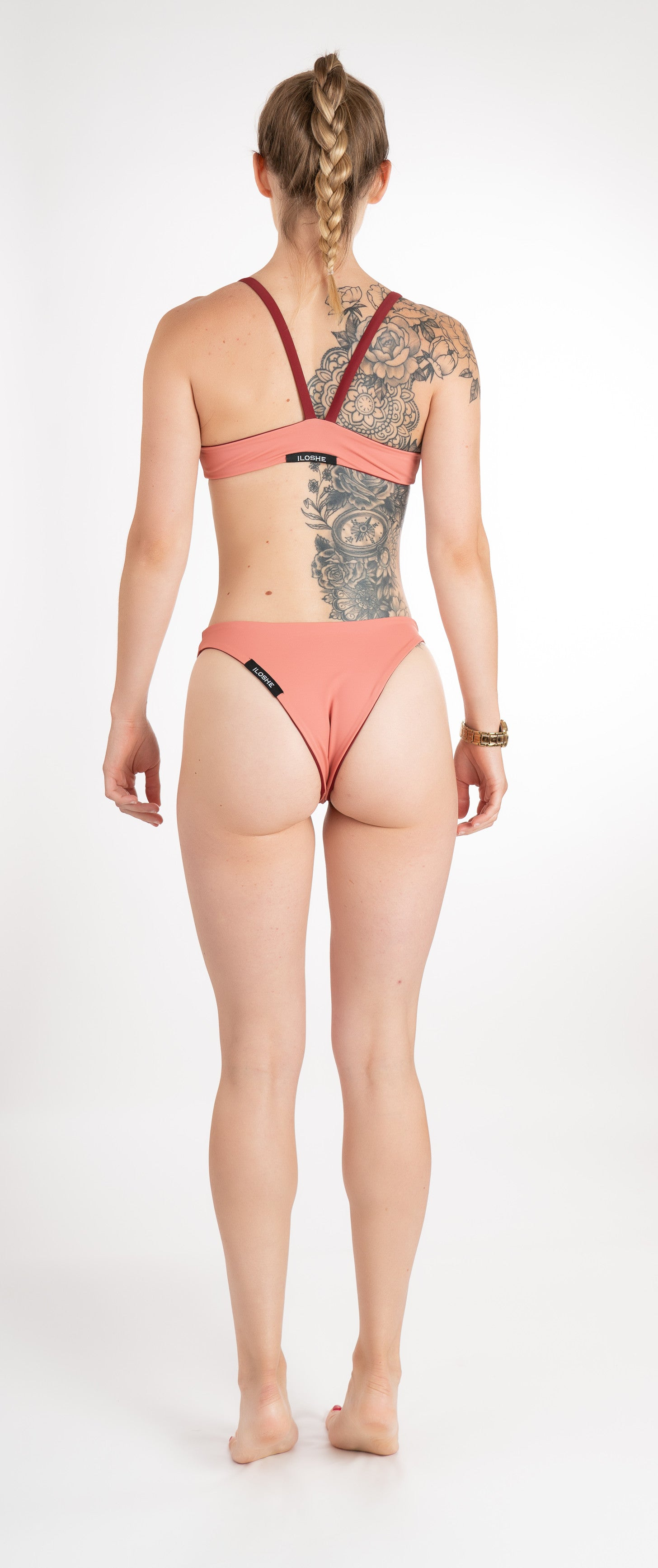 sustainable bikini bottom peach