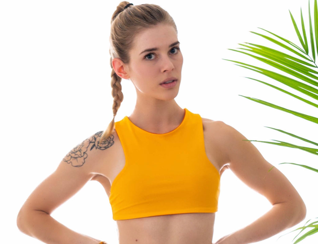 Sporty eco friendly bikini top