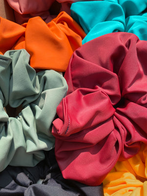 black, maroon, blue, pastel color scrunchie bundle for summer