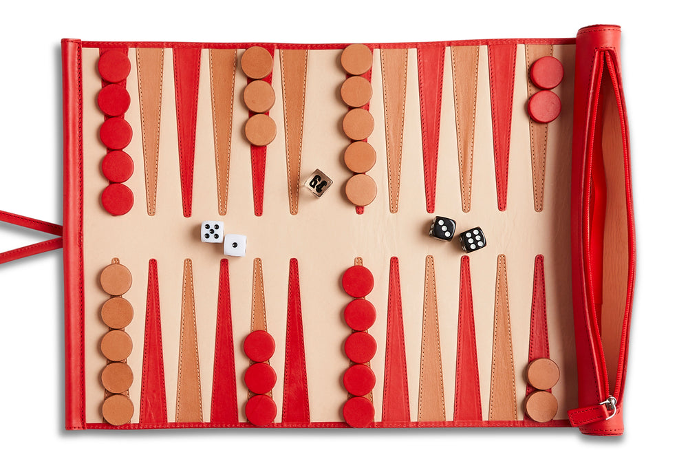 Travel Backgammon Board (RED)