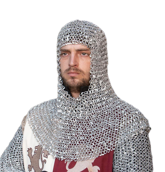 Riveted Aluminum Mail Armor Coif