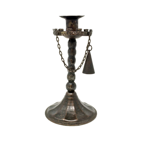 Antique wrought iron candlestick with snuff by Goberg circa 1910