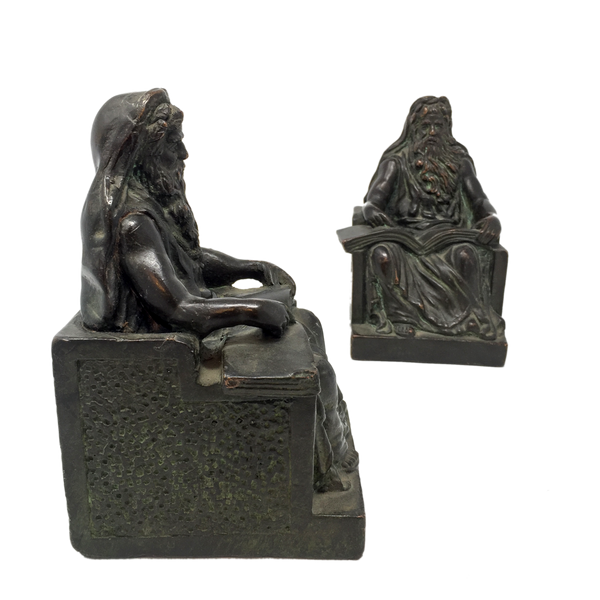 Antique bronze philosopher bookends by KBW circa 1914