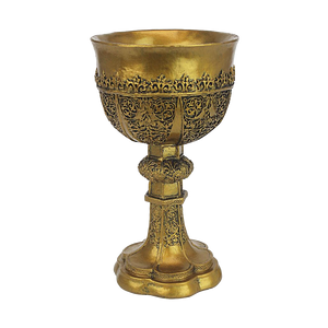 Gothic golden display goblet