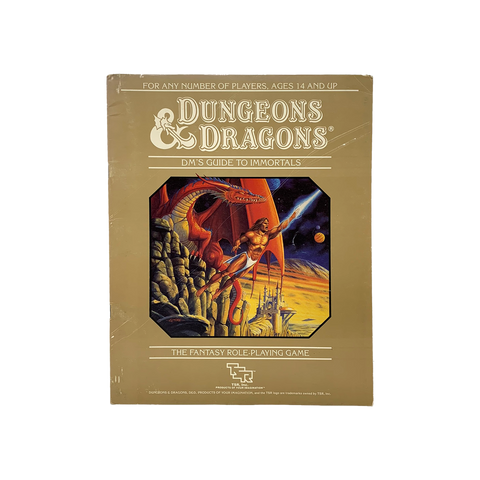 "Vintage 1986 ""DM's Guide to Immortals"" D&D guide book"