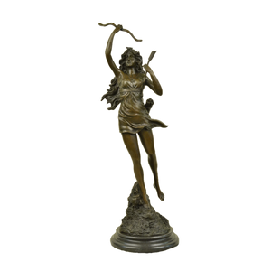Diana the Huntress bronze sculpture by Mirval