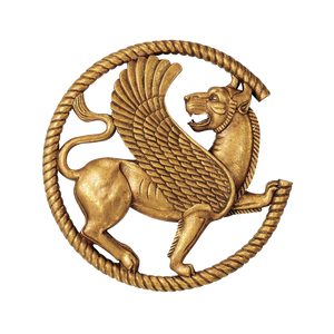 Achaemenid gryphon wall sculpture after ancient Persian jewelry