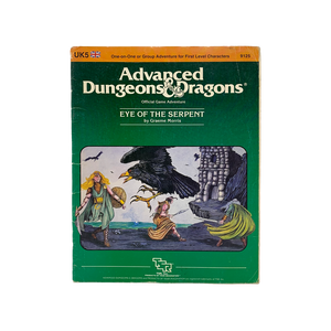 "Vintage 1984 ""Eye of the Serpent"" Advanced D&D adventure book"