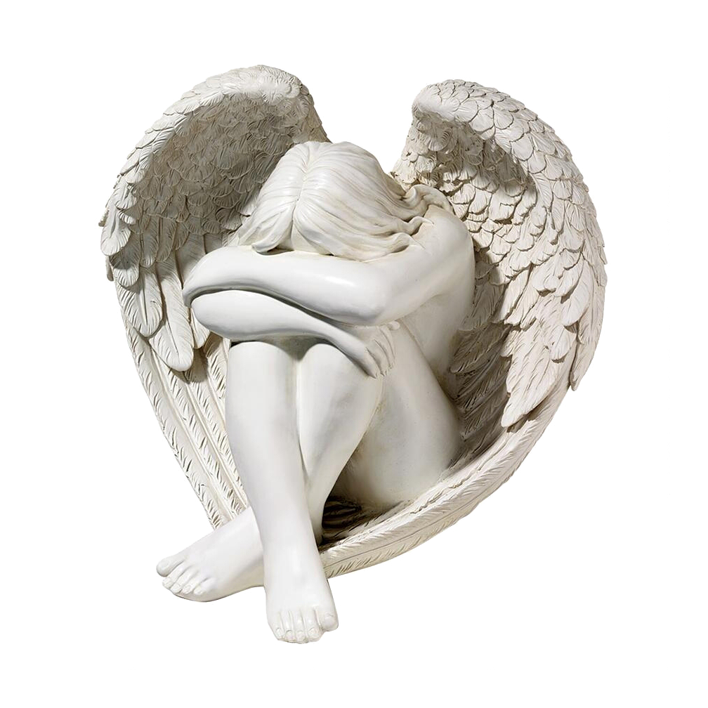 Crestfallen, Angel Sculpture by Hartley
