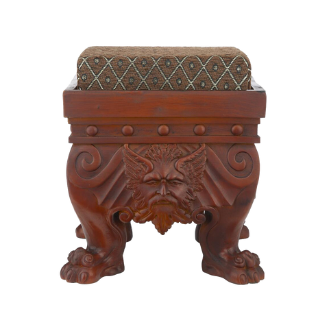 Green Man Footstool