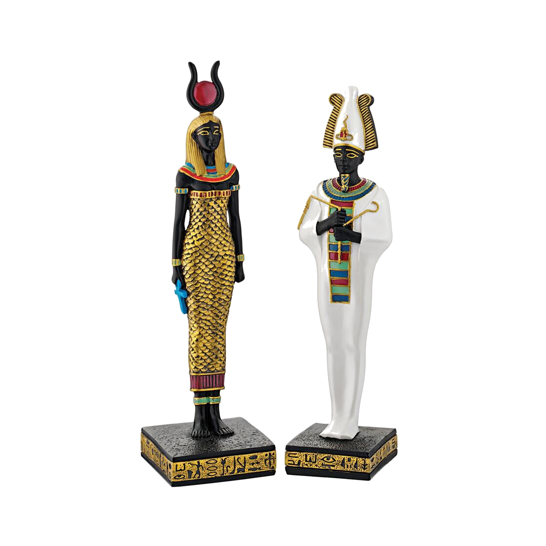 Osiris and Hathor Statue Set
