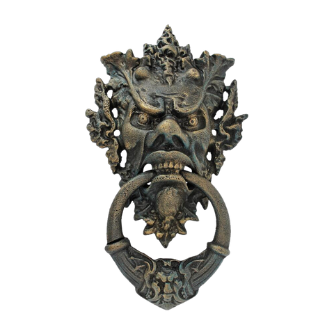 Forest Tyrant, antique replica cast iron door knocker